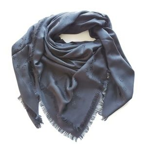 Louis Vuitton Monogram Oversize Scarf Shawl- Black
